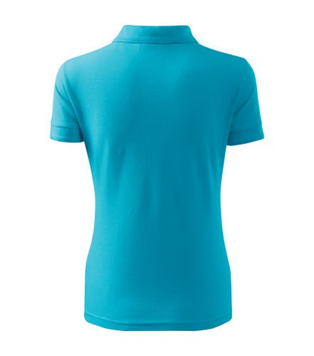 DAMSKA Koszulka Polo PIQUE turkusowa