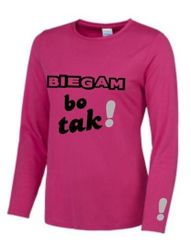 938685e62f1fd0 Damska koszulka do biegania - BIEGAM BO TAK ! | SKLEP \ DAMSKIE ...