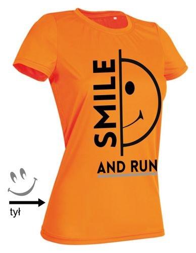 fd8284a797f91f koszulka do biegania SMILE orange pomarańczowy | SKLEP \ DAMSKIE ...